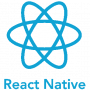 React Native atomic logo made of blue ecliptic loops