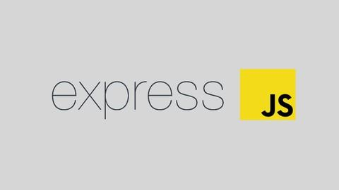 ExpressJS logo in gray rectangle