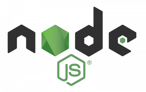 official NodeJS logo written in modern font with black and green letters